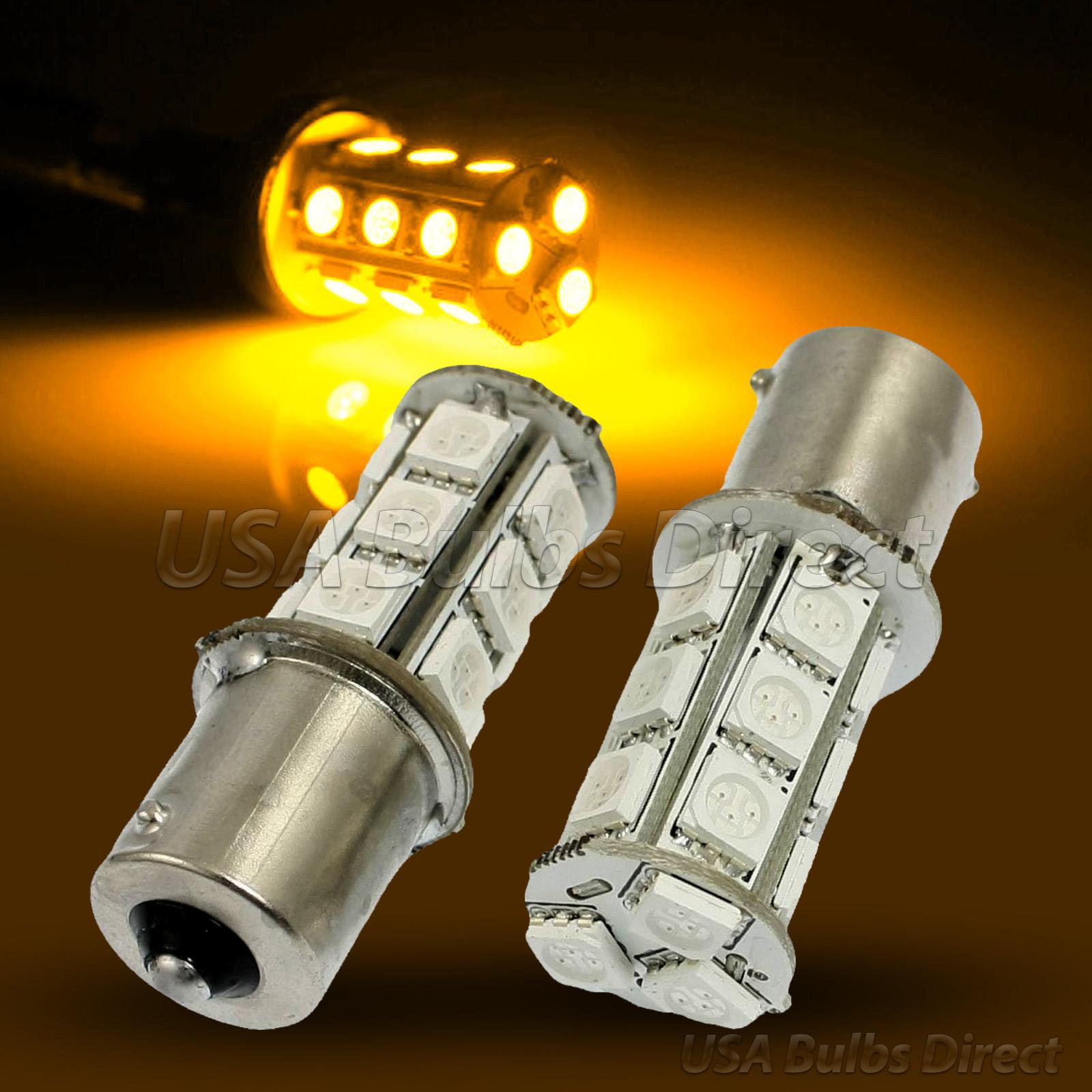 1156 Amber 18 Led Turn Signal Corner Brake Light Bulbs